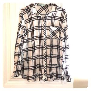 Maurices flannel button up xl